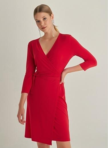 NGSTYLE Anvelop Örme Elbise Kırmızı